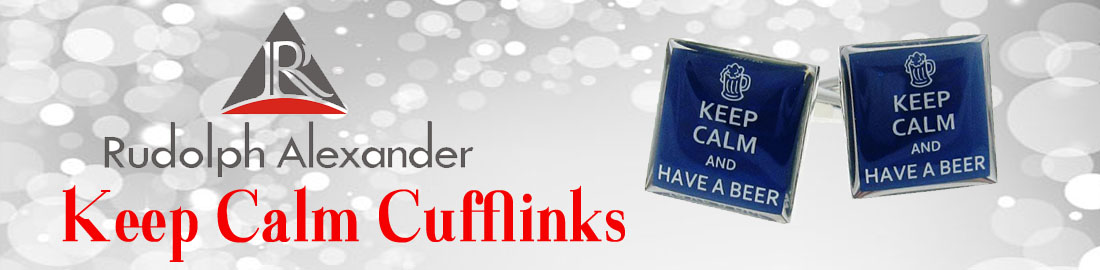 (J) Keep Calm Cufflinks